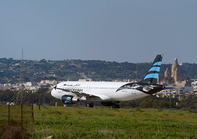 الطائرة الليبية في مالطا