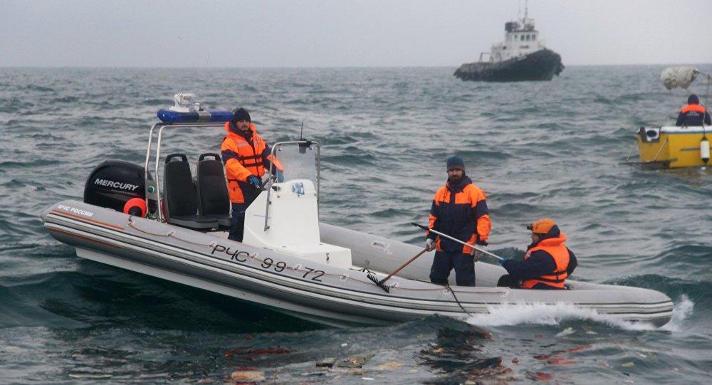عملية البحث في مكان سقوط طائرة تو 154
