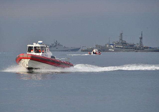 انتشال الصندوق الثاني للطائرة المنكوبة تو-154 من البحر الأسود