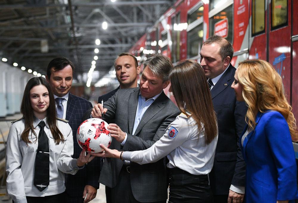 مراسم افتتاح قطار كأس القارات