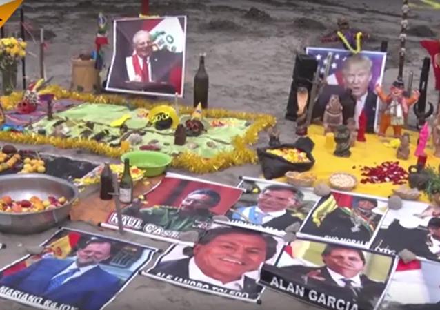 مشعوذون في بيرو يقومون بطقوس تلطيف قلوب لزعماء العالم