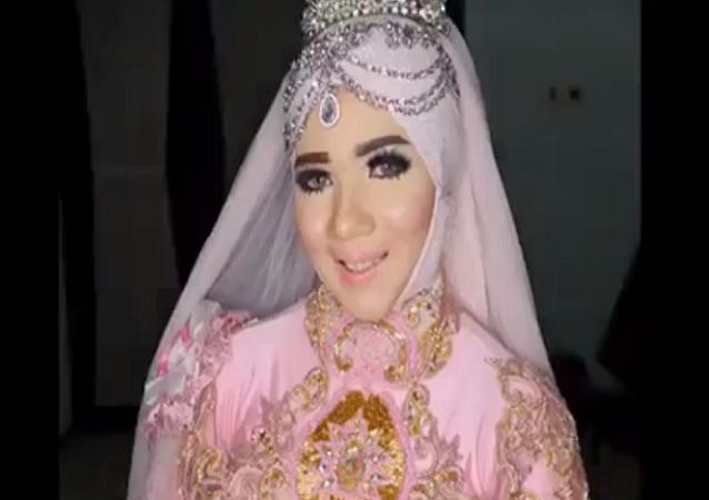 العروس التي أصابت رواد الإنترنت بالصدمة