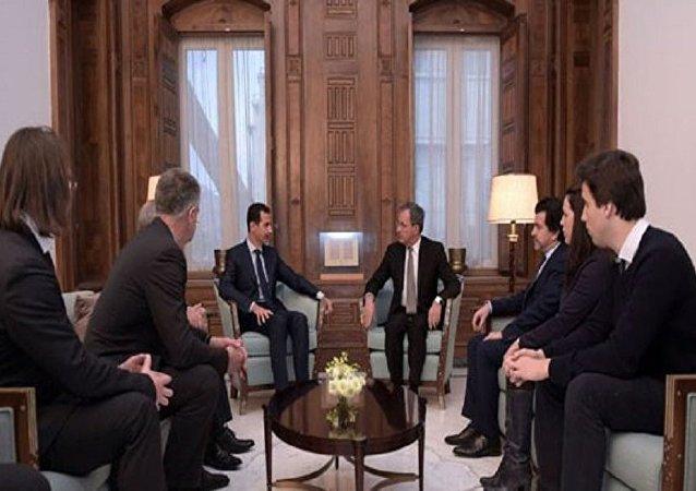 الأسد يستقبل وفدا برلمانيا فرنسيا