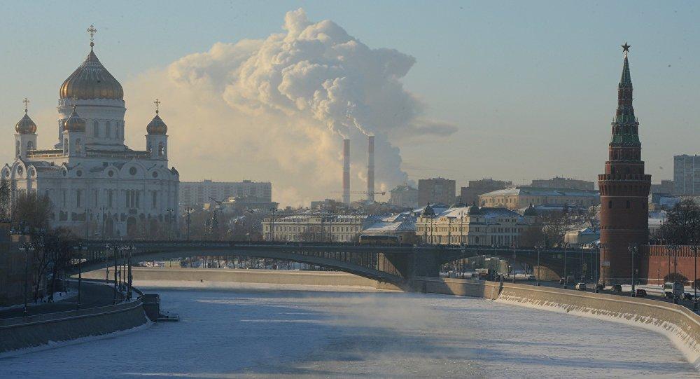 البرد القارس في موسكو