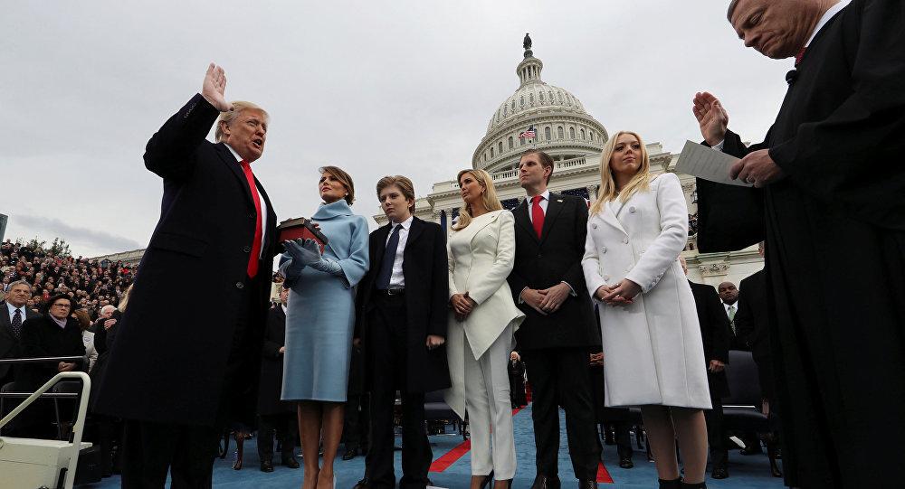 ترامب يؤدي اليمين الدستورية كرئيس الـ 45 للولايات المتحدة