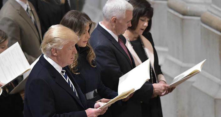 ترامب في القداس الديني