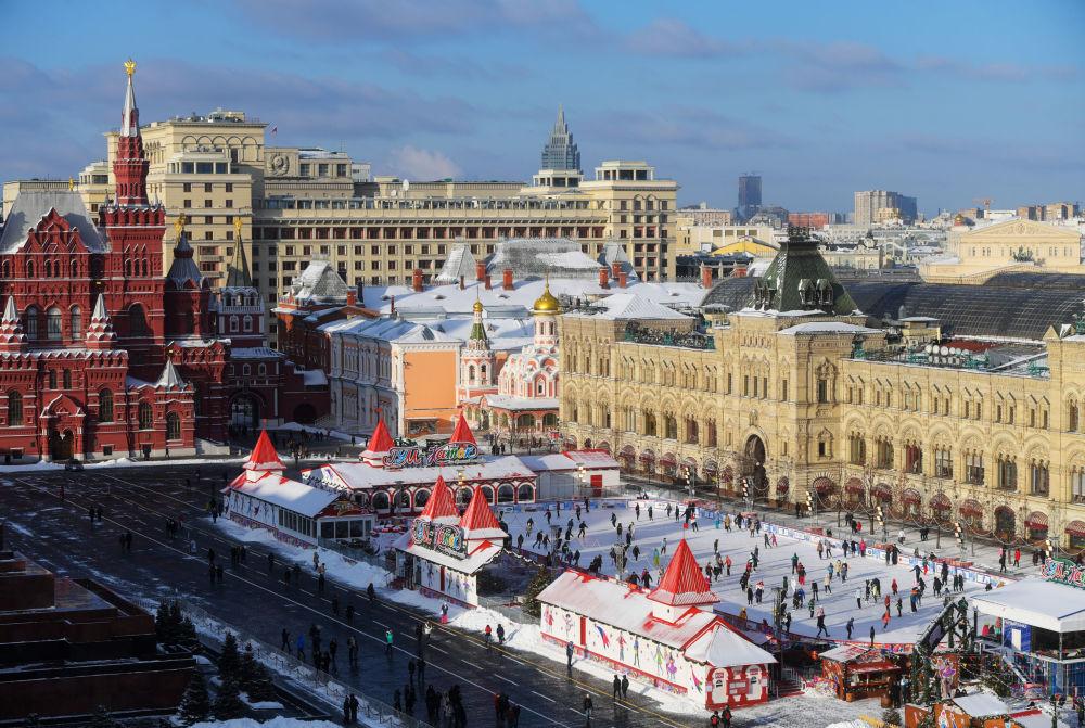 ساحة التزلج في الساحة الحمراء