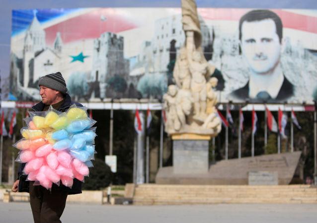 بائع في حلب، سوريا 30 يناير/ كانون الثاني 2017