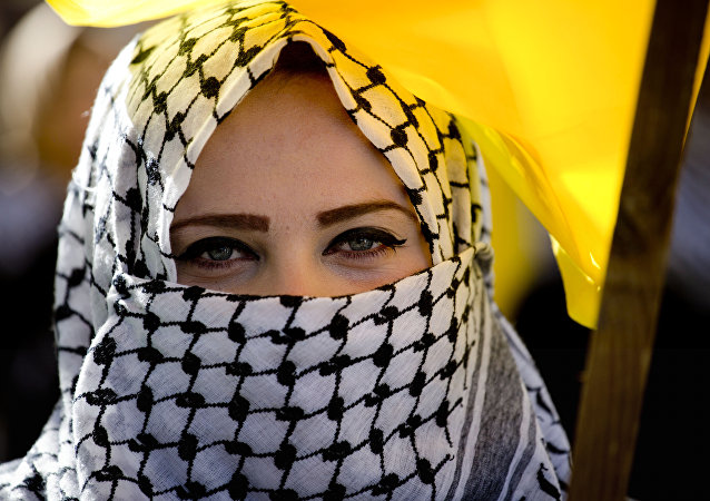 مسيرة شعبية لأنصار فتح في بيت لحم، فلسطين 1 فبراير/ شباط 2017
