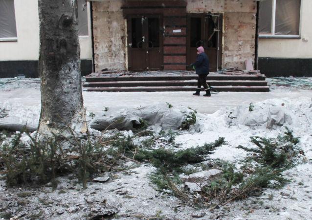 الوضع في دونيتسك، أوكرانيا 1 فبراير/ شباط 2017