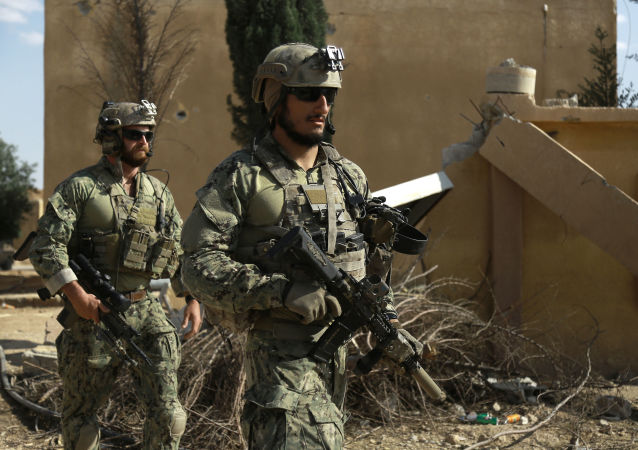 أفراد قوات العمليات الخاصة في ريف مدينة الرقة