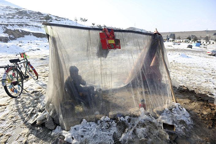 الطقس السيئ في أفغانستان