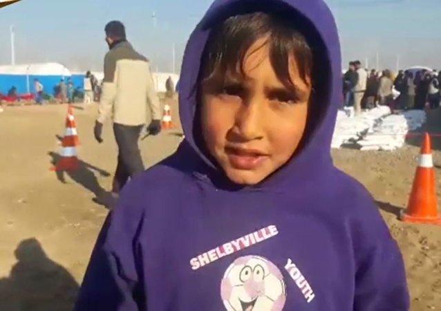 طفل عراقي هرب من داعش