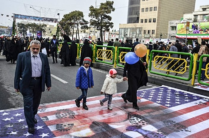 مسيرات في إيرانة مناهضة للسياسة الأمريكية