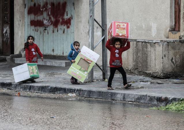 أمطار غزيرة انهالت على مدينة رفح، قطاع غزة، فلسطين 15 فبراير/ شباط 2017