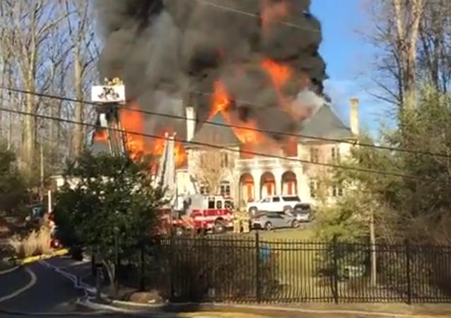 حريق في أمريكا