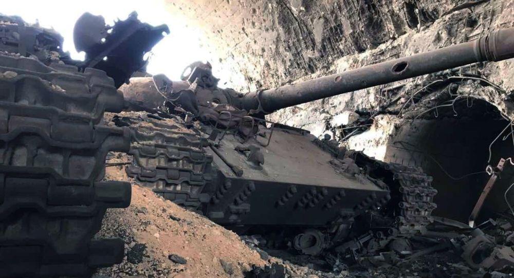 آليات عسكرية مدمرة في تدمر