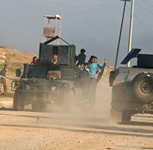 القوات العراقية التي تسعى لتحرير الساحل الأيمن لمدينة الموصل