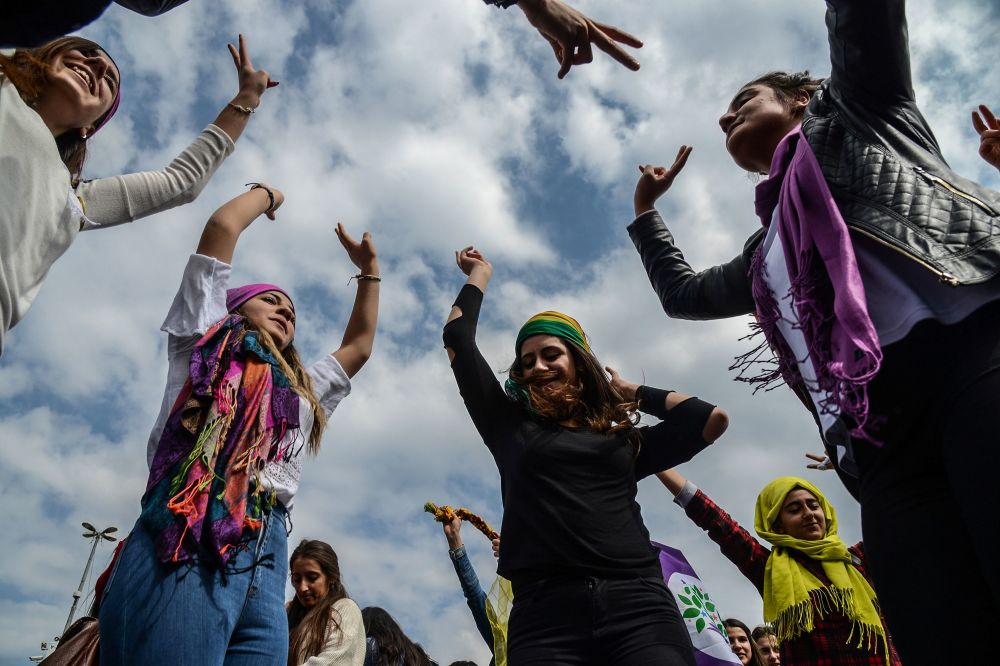 الاحتفال بيوم المرأة العالمي في ديار بكر، تركيا 8 مارس/ آذار 2017