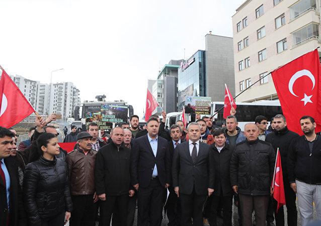مظاهرة في تركيا ضد الحكومة الهولندية