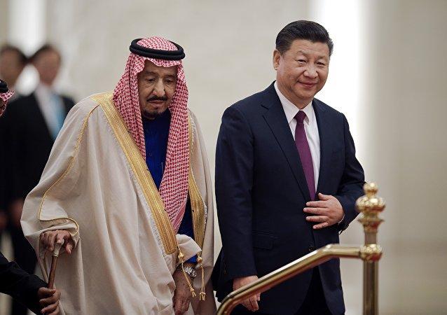 العاهل السعودي في الصين