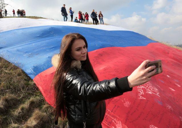 الاحتفالات بـربيع القرم بمناسبة ذكرى عودة شبه جزيرة القرم إلى الوطن.