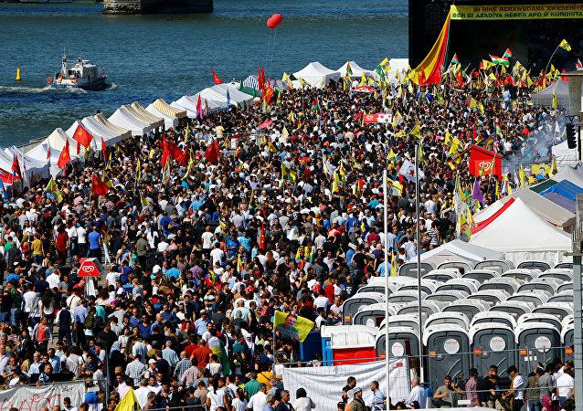مظاهرات الأكراد في ألمانيا ضد اردوغان