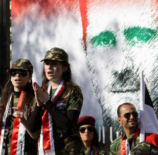 رسم غرافيتي للرئيس السوري بشار الأسد في مدينة دمشق