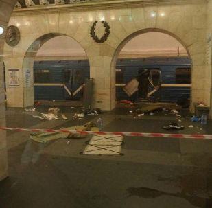 انفجار بمحطة تيخنولوغيتشيسكي إنستيتوت بمدينة سانت بطرسبورغ
