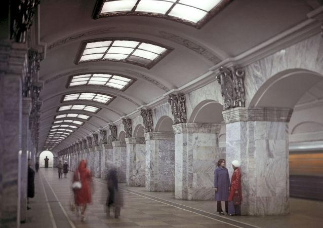 محطة مترو كيروفسكي زافود في مدينة سان بطرسبورغ