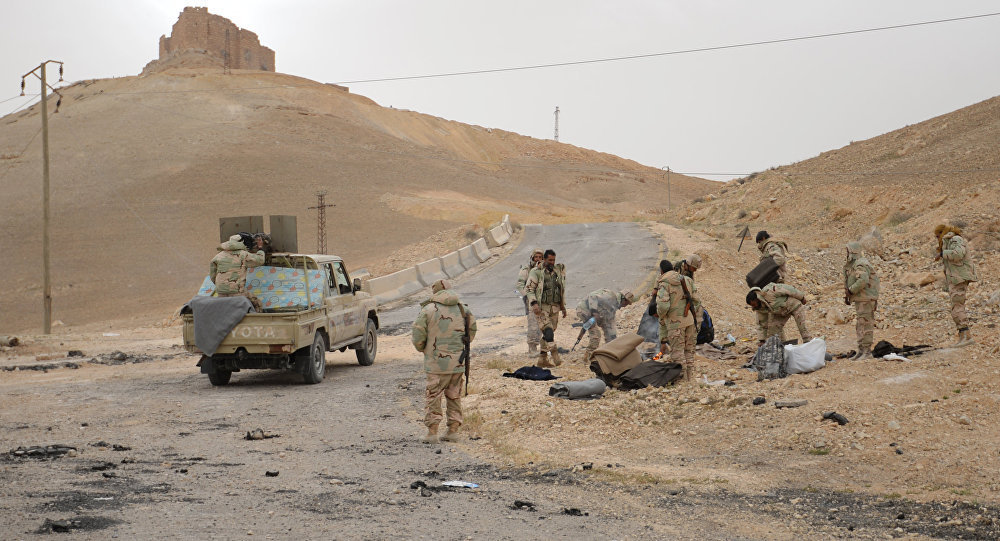 القوات الحكومية السورية في تدمر