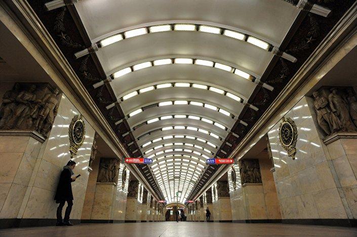 محطة مترو نارفسكايا في مدينة سان بطرسبورغ