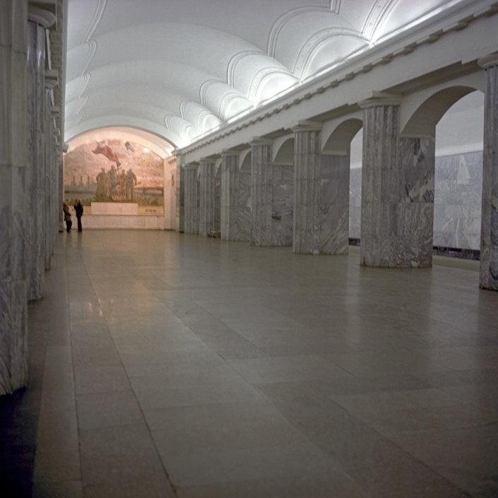 محطة مترو بالتيسكايا في مدينة سان بطرسبورغ