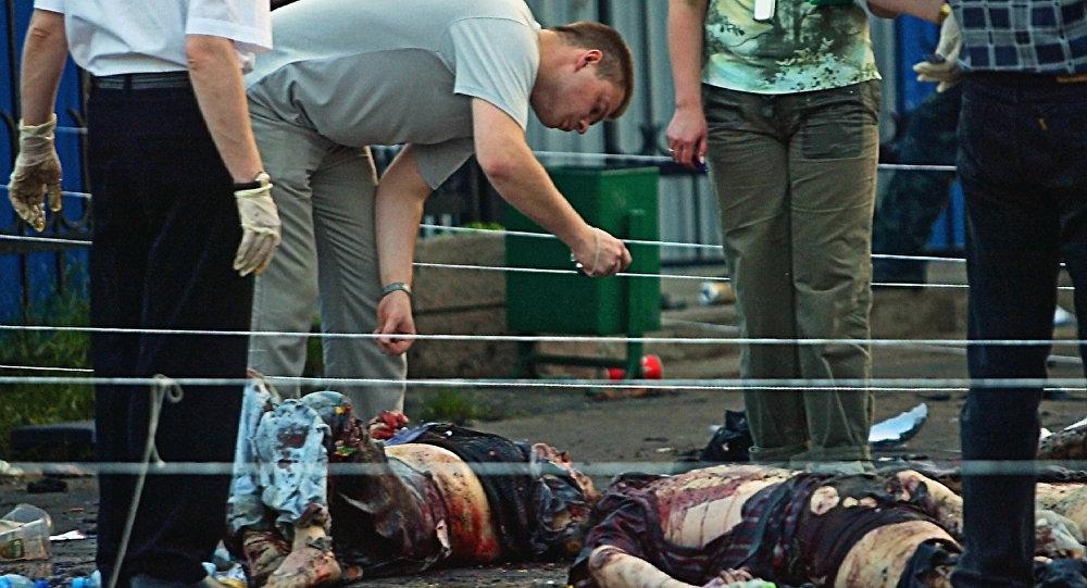 عملية إرهلبية في مهرجان كريليا في توشينو، موسكو، 5 يوليو/ تموز 2003