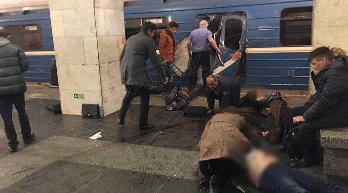 انفجار بمحطة سينايا بمدينة سانت بطرسبورغ