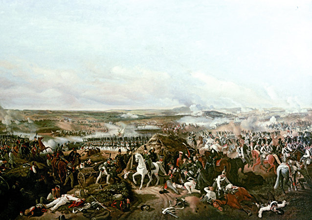 رسمة معركة بورودينو 1812 للرسام بيتر فون هيس
