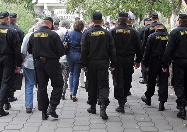 الشرطة البيلاروسية