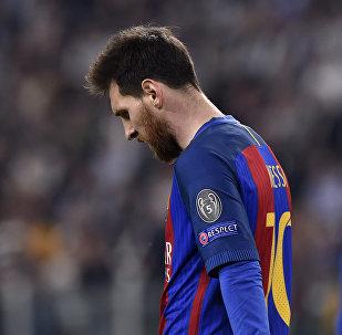 ميسي في مباراة برشلونة ويوفينتوس