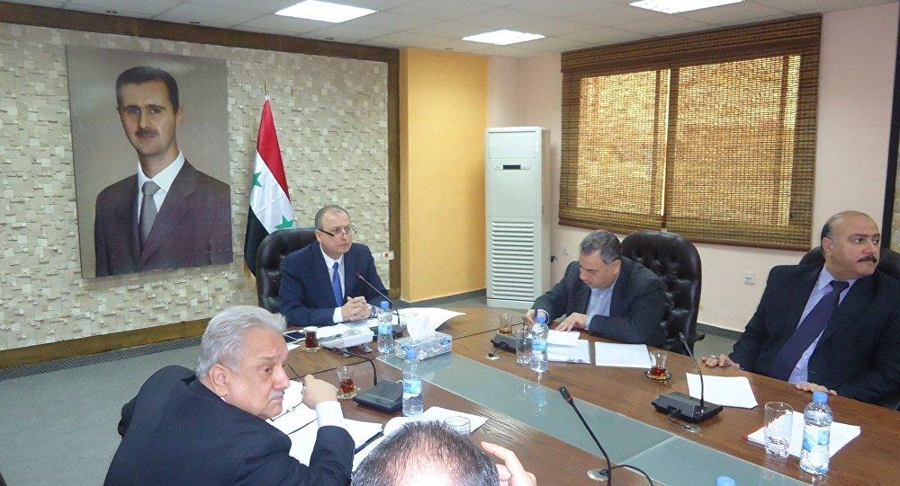 وزير النفط والثروة المعدنية في الجمهورية العربية السوري المهندس علي غانم