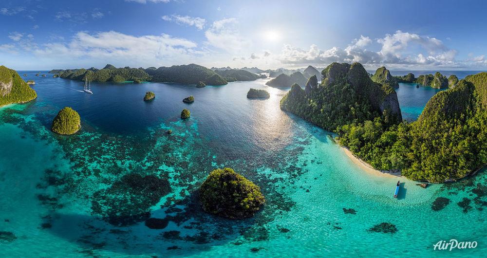 جزر ، أرخبيل من راجا امبات، اندونيسيا