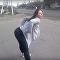 رقص فتاتة روسية يؤدي إلى حادث مروع