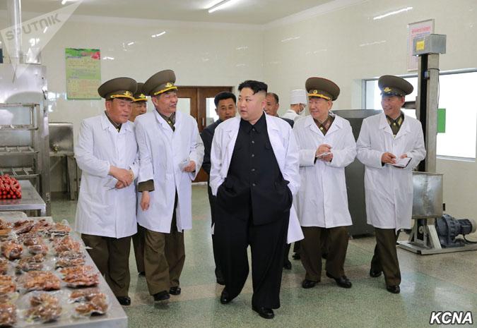 زعيم كوريا الشمالية في جولة بالمجزر