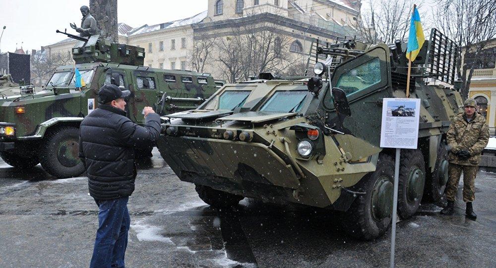 عرض منتجات الصناعة العسكرية الأوكرانية في مدينة لفوف