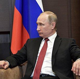 لقاء الرئيس الروسي فلاديمير بوتين مع نظيره التركي رجب طيب أردوغان في مدينة سوتشي، 3 مايو/ آيار 2017