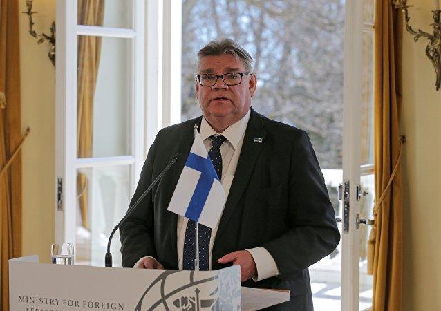 وزير الخارجية الفنلندي تيمو سويني، هيلسينكي، فنلندا