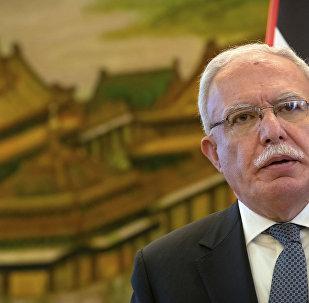 وزير الخارجية الفلسطينية رياض المالكي