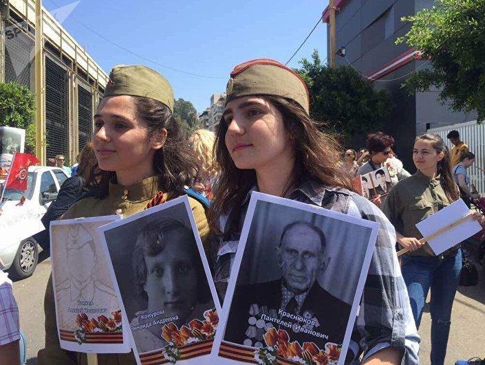 مسيرة  فوج الخالدين في بيروت
