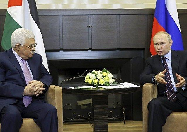 بوتين وعباس