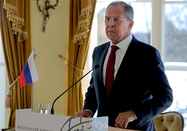 وزير الخارجية الروسي سيرغي لافروف في هيلسينكي، فنلندا