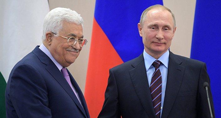 الرئيس الروسي يلتقي بالرئيس الفلسطيني محمود عباس، 11 مايو/ آيار 2017